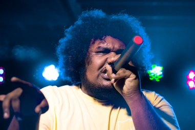 Michael Christmas performing on the Pigeons and Planes: No Ceilings Tour in Toronto.