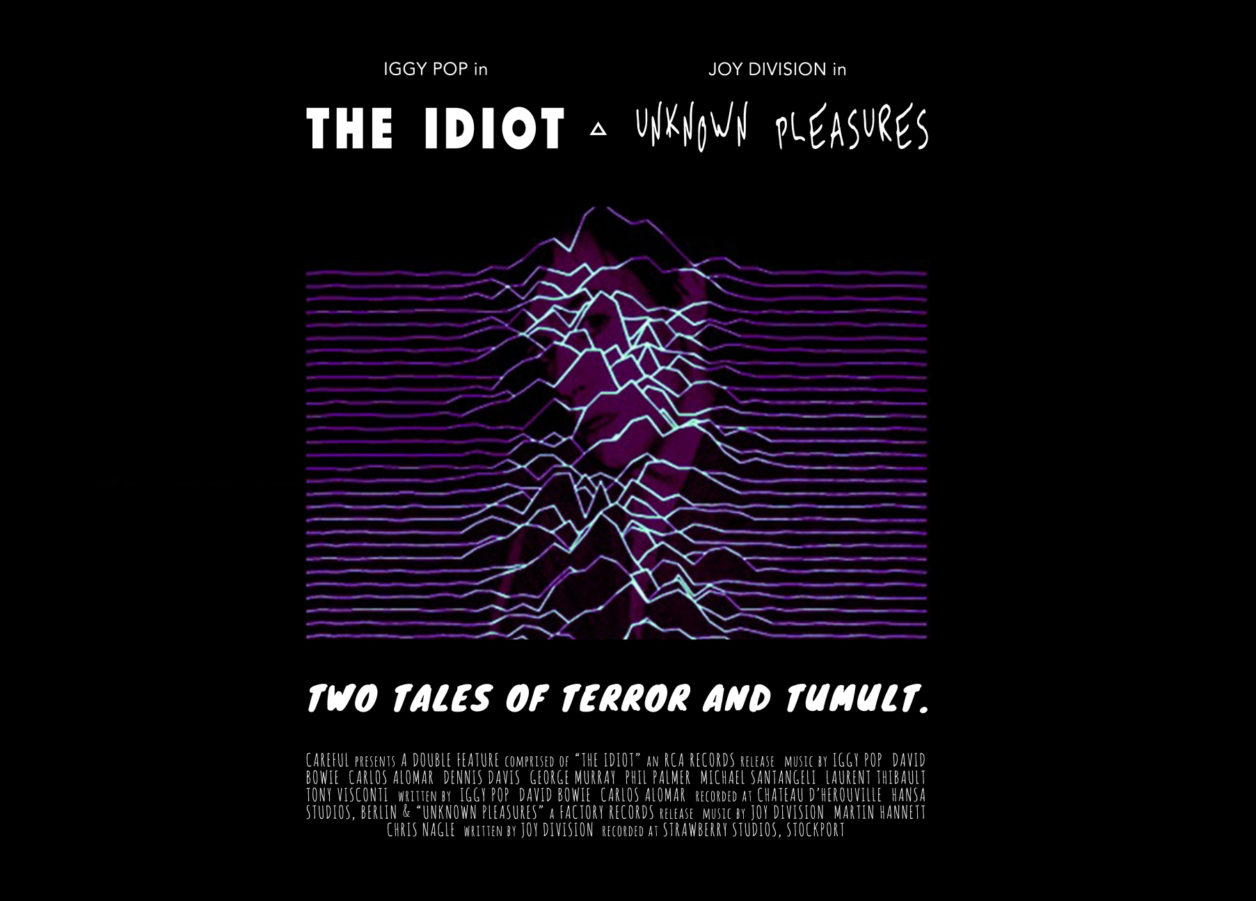 The Idiot & Unknown Pleasures Double Feature Poster